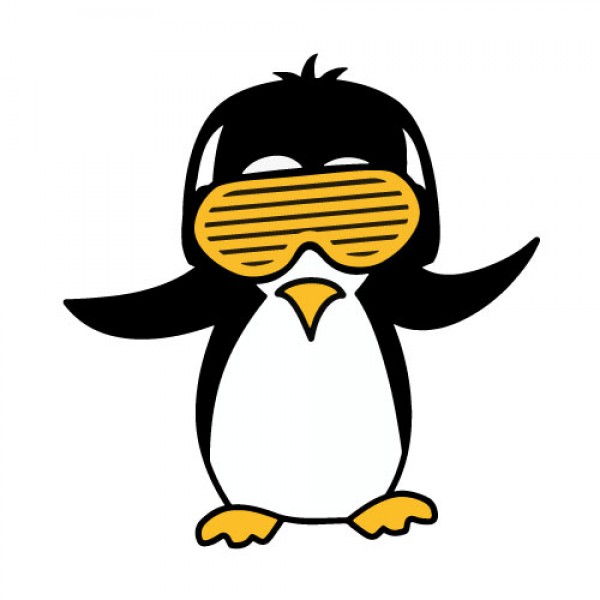 Party Penguin nalepka