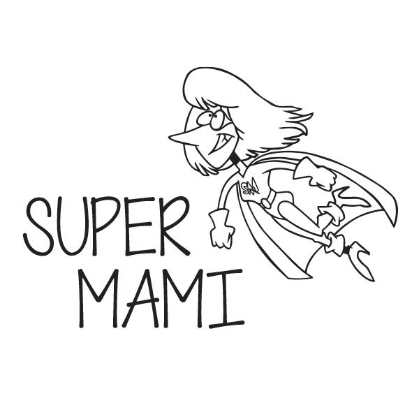 Nalepka Super mami