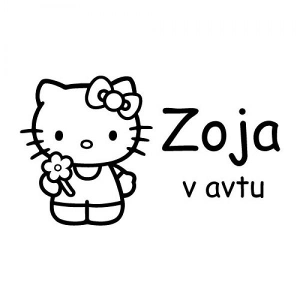 Nalepka za otroke Hello Kitty