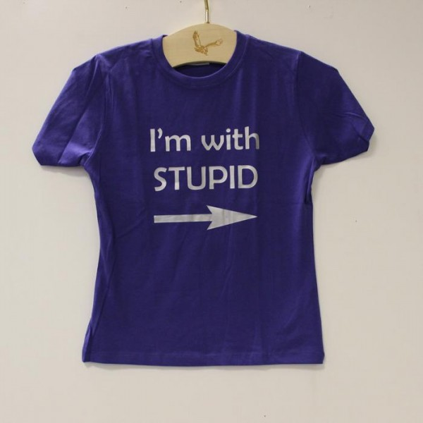 Majica I'm with Stupid