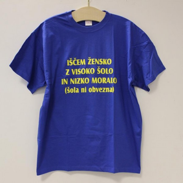 Majica Iščem žensko z visoko šolo