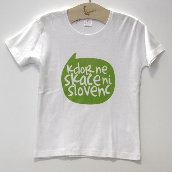 Majica Kdor ne skače ni slovenc