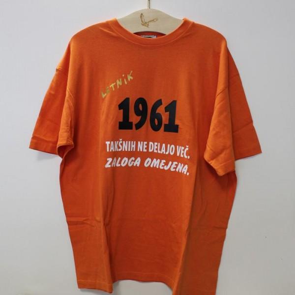 Majica Letnik 1961 takšnih ne delajo več, zaloga omejena