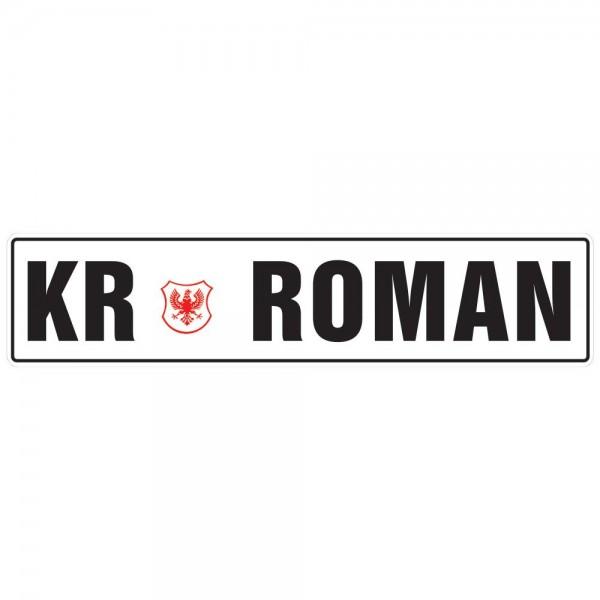 Velika tablica z imenom, KR