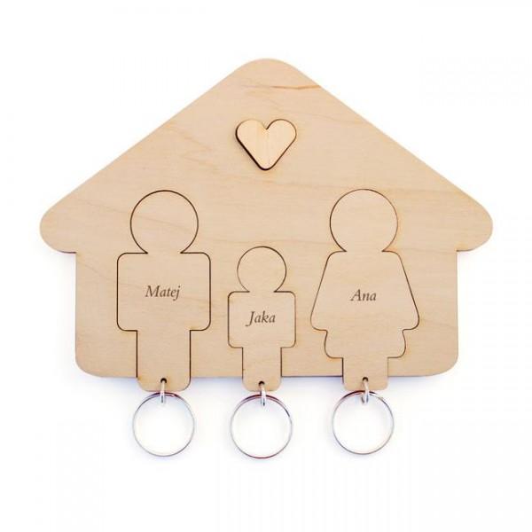 Držalo in obeska za ključe, družina (sin)