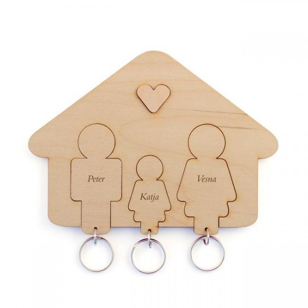 Držalo in obeska za ključe, družina (hčerka)