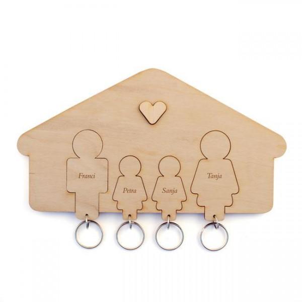 Držalo in obeska za ključe, družina (hčerka, hčerka)