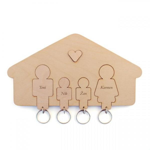 Držalo in obeska za ključe, družina (sin, sin)