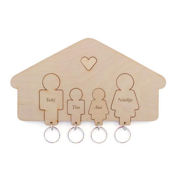 Držalo in obeska za ključe, družina (hčerka, sin)