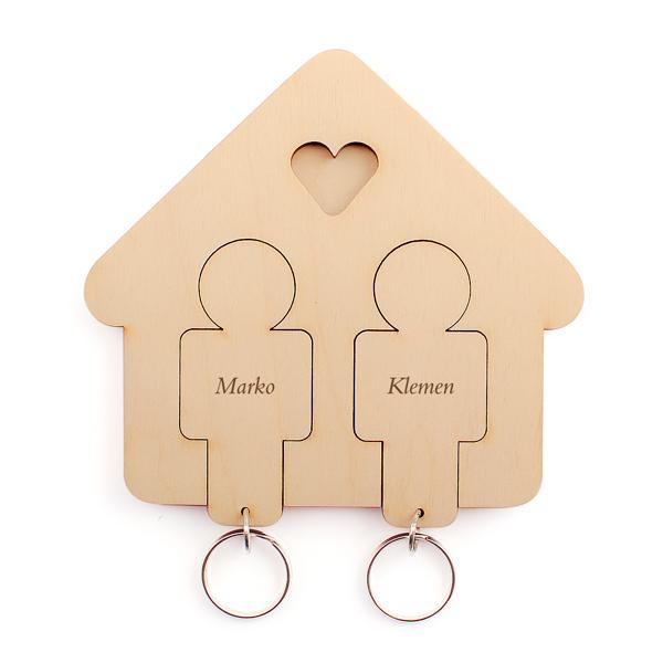 Držalo in obeska za ključe (moški in moški)