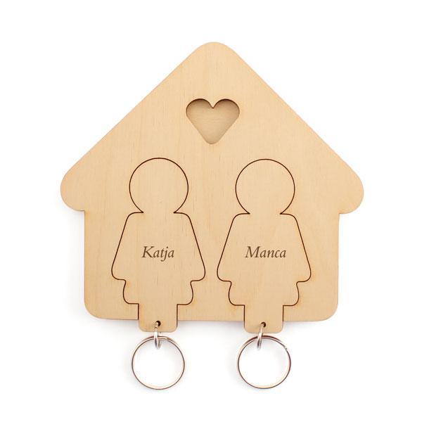Držalo in obeska za ključe (ženska in ženska)