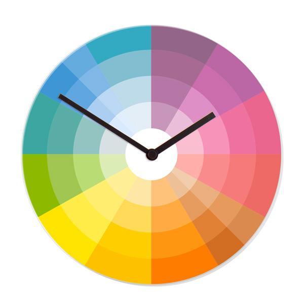 """Stenska ura """"Barvni krog"""", premer 30 cm"""