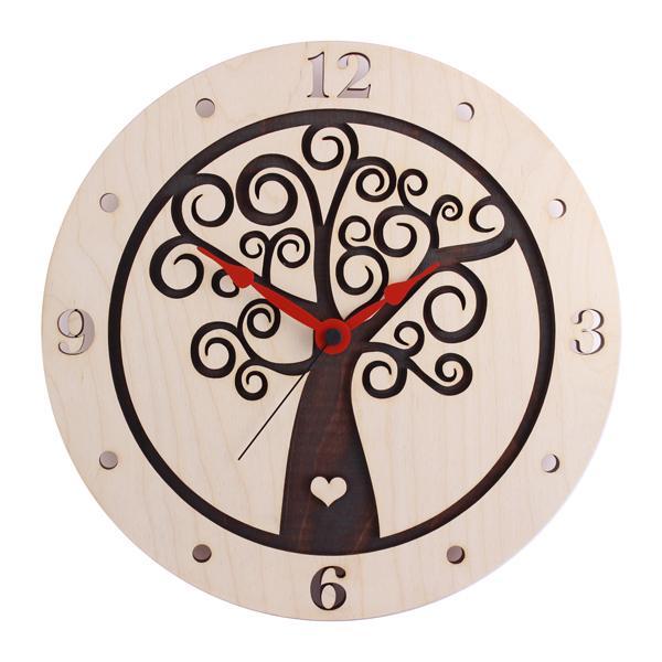 """Stenska ura """"Hrastnik (rjava)"""", premer 30 cm"""