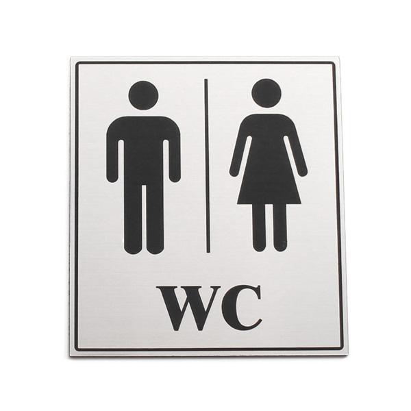 Oznaka za WC, samolepilna + NAPIS PO ŽELJI