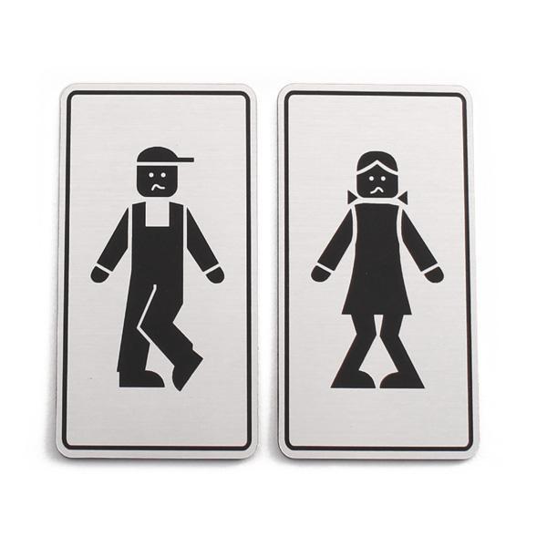 Oznaka za WC, samolepilna (2 kosa)