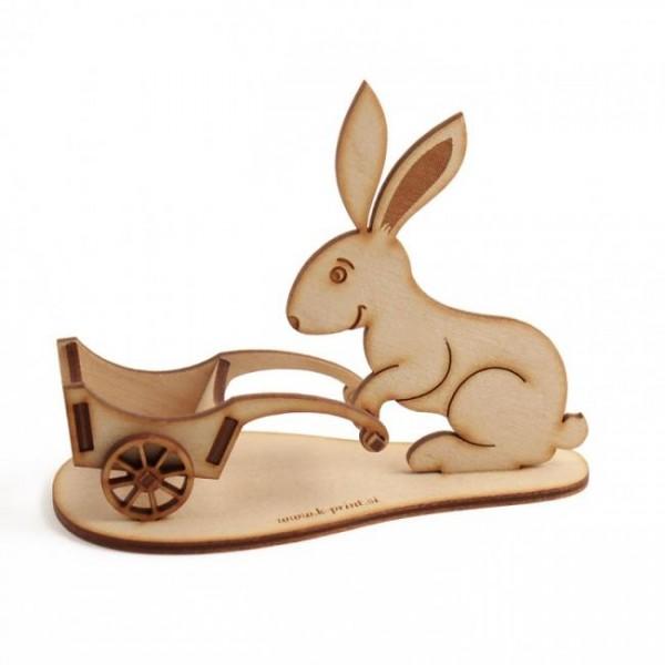 Leseni velikonočni zajček 13 x 11 cm