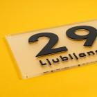 Moderna hišna številka, s setom za montažo