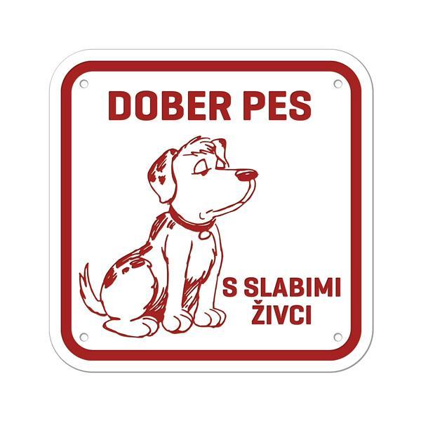 Pasja tablica Dober pes s slabimi živci, gravirana