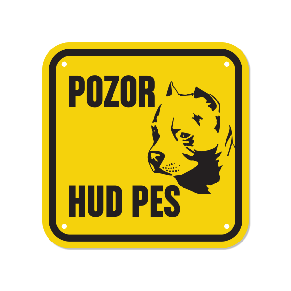 Opozorilna tablica Pozor hud pes, Ameriški Staffordshire Terrier, 15 x 15 cm