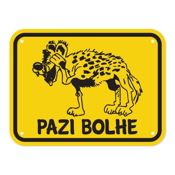 Opozorilna tablica Pazi bolhe, Kojot, 20 x 15 cm + MENJAVA BESEDILA