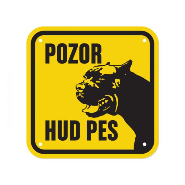 Opozorilna tablica Pozor hud pes, Bokser, 15 x 15 cm
