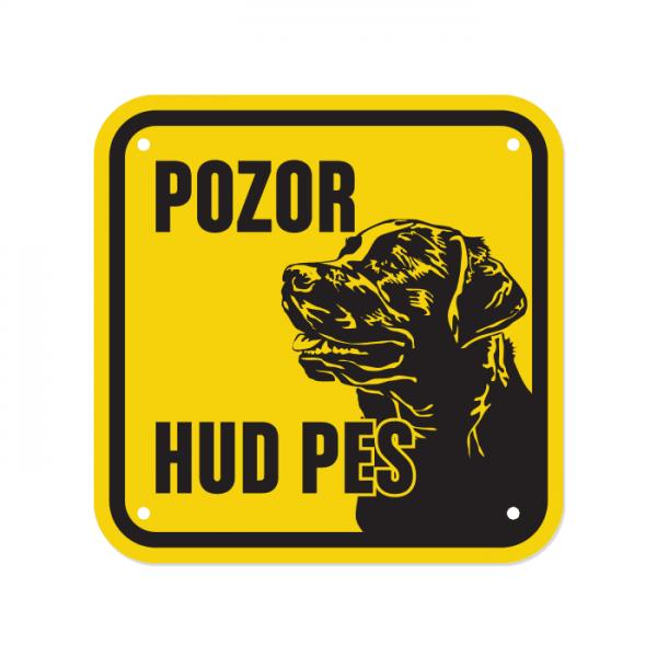 Opozorilna tablica Pozor hud pes, Labradorec, 15 x 15 cm