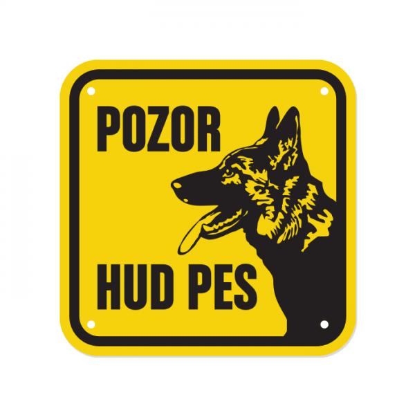 Opozorilna tablica Pozor hud pes, Nemški ovčar, 15 x 15 cm