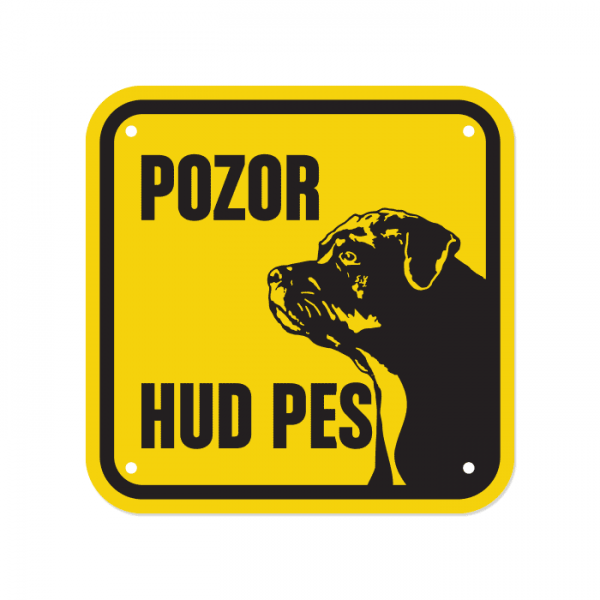 Opozorilna tablica Pozor hud pes, Rottweiler, 15 x 15 cm
