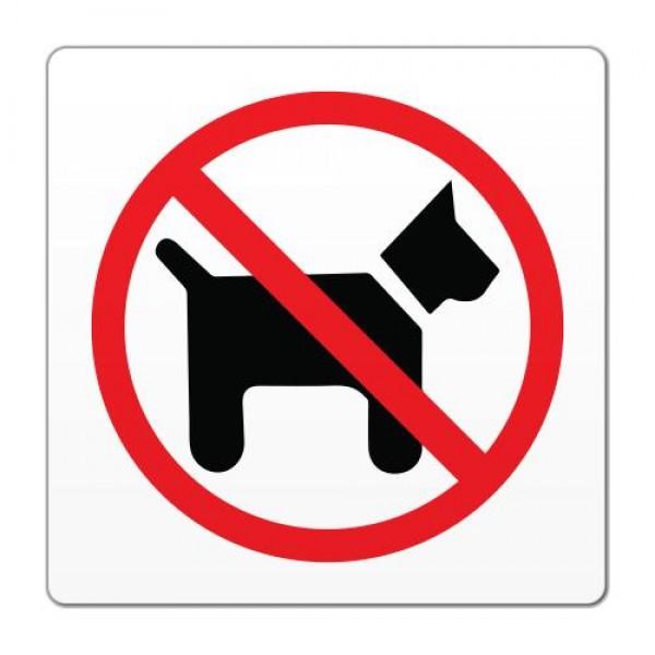 Opozorilna nalepka prepoved vstopa za pse